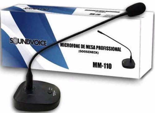 Microfone De Mesa Pulpito Com Fio Aste Regulável