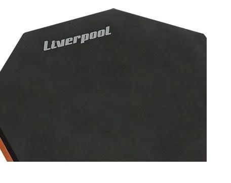 Pad De Estudo Praticável 12  Para Bateria Liverpool Octavado Com Par de Baquetas