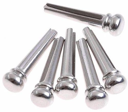 Pino Pininho Cavalete De Metal Prata Para Violão 6uni