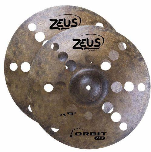 Prato Bateria Zeus Orbit Hi-hat Chimbal 13 Chipo Furado