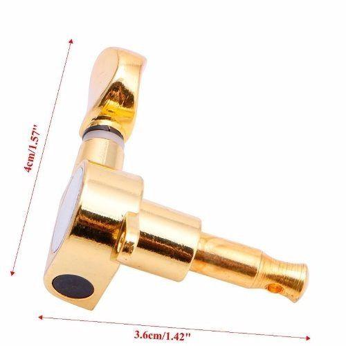 Tarraxa Tarracha Guitarra Strato Dourada Blindada 6 Linha