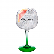 Gin Tanqueray 750ml, Miniatura Monin Maçã Verde 250ml, Taça Gin Tanqueray com 6un Tônica Schweppes 350ml