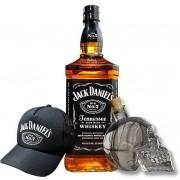 Jack Daniels Old Nº7, Garrafa Caveira e Boné Jack Daniels