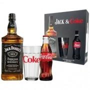 Jack & Coke  - Jack Daniels 1l e Coca-cola 250ml com Copo Jack