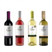 Kit 4 Vinhos Toro Negro (Merlot, Rosé, Sauvignon Blanc e Chardonnay)