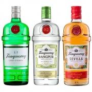 Kit Gin Tanqueray London Dry 750ml, Gin Tanqueray Rangpur 750ml, Gin Tanqueray Sevilla 750ml
