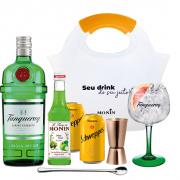 Kit Gin Tanqueray + Taça Cristal