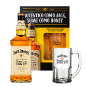 Kit Jack Daniel's Honey 1L com Caneca Jack Honey Oficial