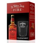 Kit  Jack Daniels Fire com Copo Exclusivo