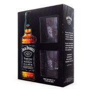 Kit Whiskey Jack Daniel's 1l + 2 Copos - Edição Limitada