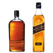 Kit Whisky's Bulleit Bourbon 750ml com Black Label 750ml