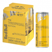 Red Bull Tropical Edition Energético Pack 4 x 250 mL