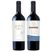 Seleção Vinhos - Vivaá Varietal Malbec 750ml e Rumores Malbec 750ml