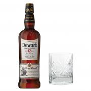 Whisky Dewar's 12 Anos 1L com Copo Personalizado Dewar's