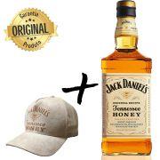 Whisky Jack Daniel's Honey 1L com Boné Bege Exclusivo