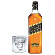 Whisky Johnnie Walker com Copo Caveira