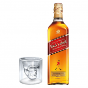 Whisky Red Label com Copo Caveira