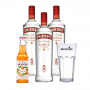Kit Dia dos Pais - 3un Vodka Smirnoff 998ml, Monin Mini Tangerina 250ml e Copo Monin