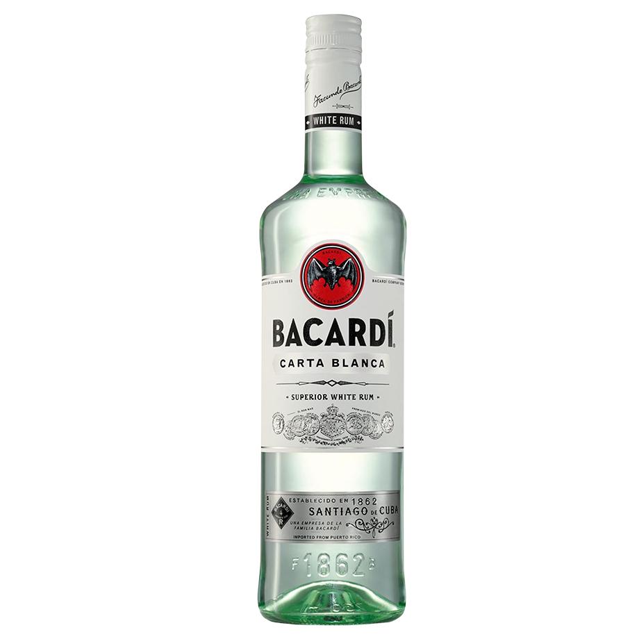 Bacardi Carta Blanca com Copo personalizado Oficial