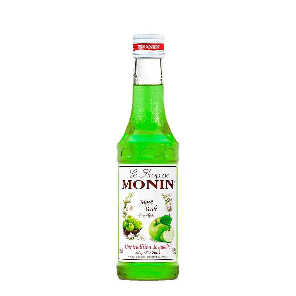 Ministry Silver 700ml, Mini Monin Maça Verde 250ml, 6Un Tônica Schweppes 350ml e Copo Monin