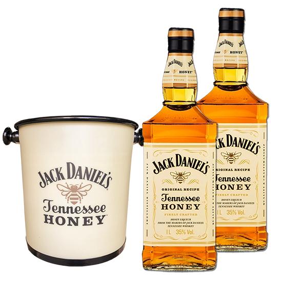 Combo 2Un Jack Daniel's Honey 1L com Balde Jack Honey Oficial