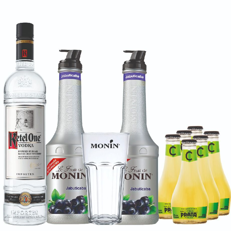 Drink In House - Ketel One, 2Un Pure Jabuticaba, 6Un Citrus e Copo Monin