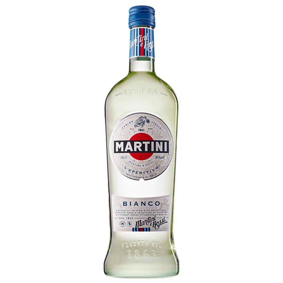 Drink In House - Martini Bianco 750ml, Taça Cristal Oficial Martini e Monin Cereja 700ml