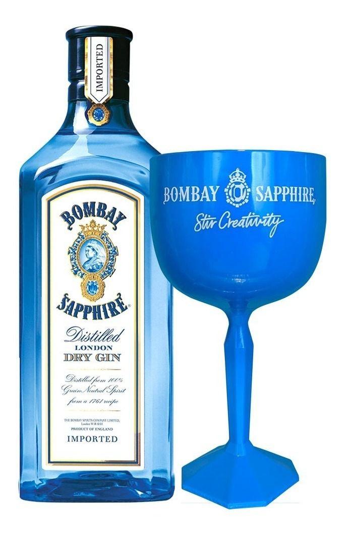 Gin Bombay Sapphire com taça 750ML