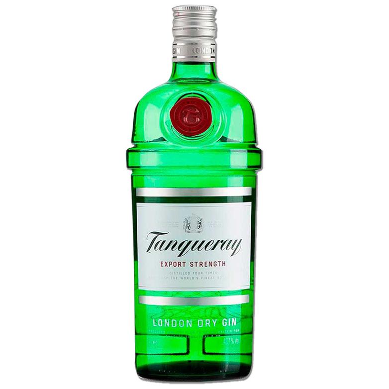 Gin Tanqueray 750ml, Miniatura Monin Tangerina 250ml, Taça Gin Tanqueray com 6un Tônica Schweppes 350ml