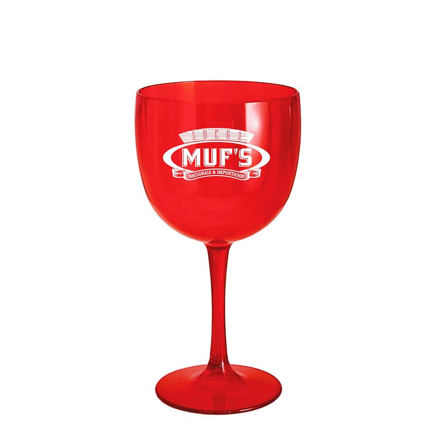 Hibisc Spritz - Espumante Muf's Reserve Brut 750ml, Monin Hibisco 700ml, Dosador Monin e Taça Acrílico Muf's