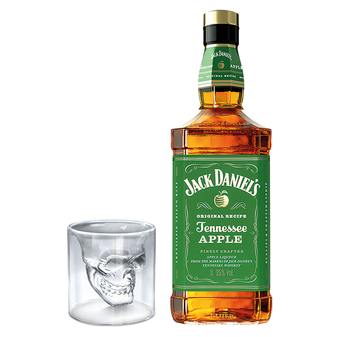 Jack Daniel's Apple + Shot Caveira