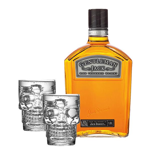 Jack Daniel's Gentleman + Copo Caveira