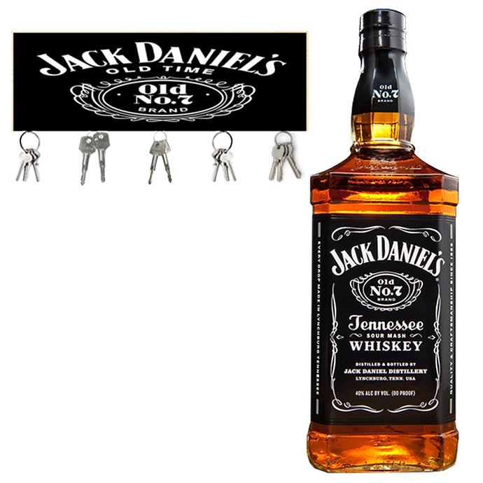 Jack Daniels Old NO.7 1L com Porta Chave Jack Daniel's