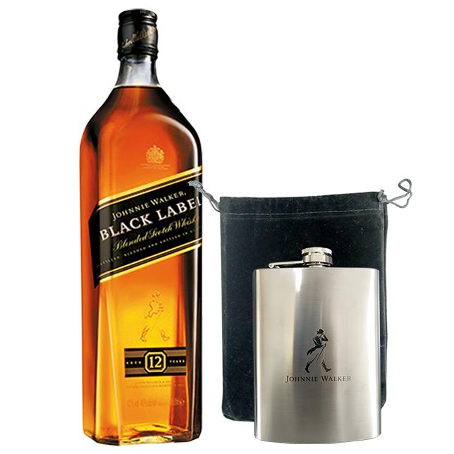 Johnnie Walker Black Label 1L com Cantil Personalizado Johnnie Walker