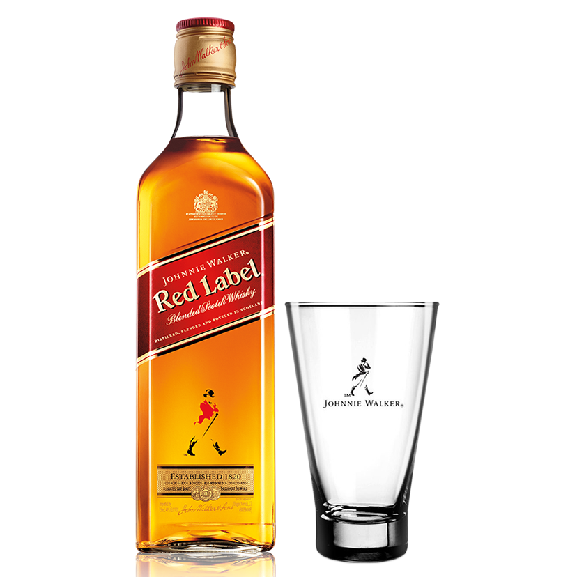 Johnnie Walker Red Label 1L com Copo Highball