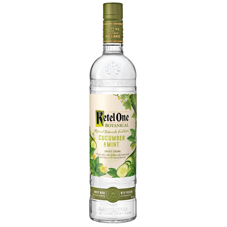 Ketel One Botanical Cucumber & Mint 750ml com Copo Oficial Ketel One