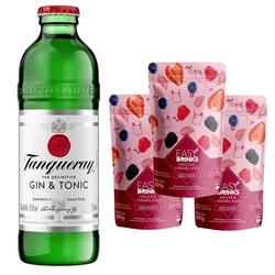 Kit - 1 Tanqueray G&T 275ml + 3 Sachês Easy Drink de Frutas Vermelhas 100g