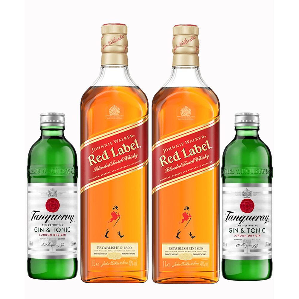 Kit - 2 Tanqueray G&T + 2 Johnnie Walker Red Label