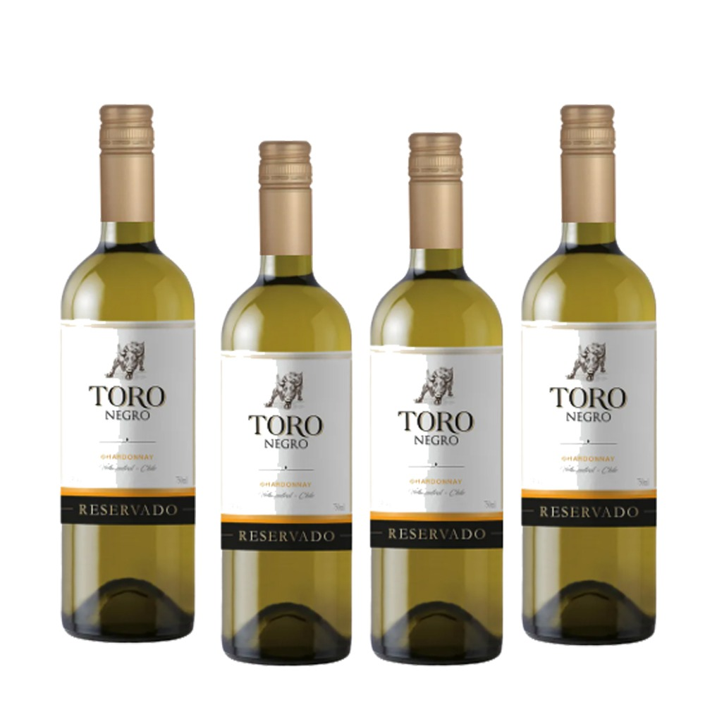 Kit 4 Vinhos Toro Negro Chardonnay