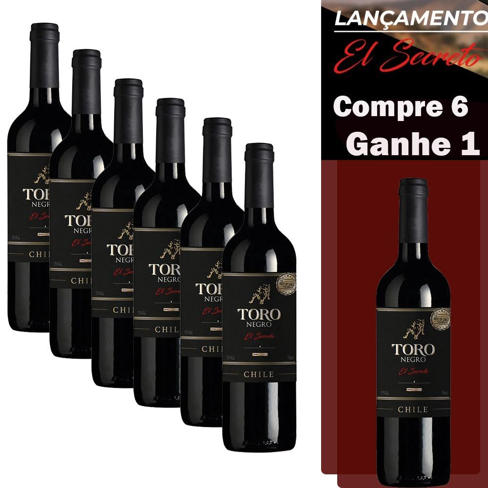 Kit 7 Vinhos Toro Negro El Secreto (Compre 6, leve 7)