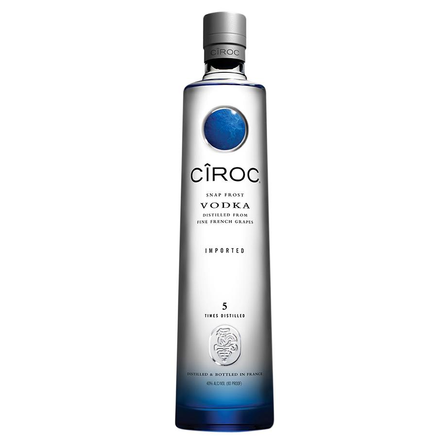 Vodka Ciroc 750ml, Mini Monin Cranberry 250ml, Copo Monin com 6un Schweppes Tônica 350ml
