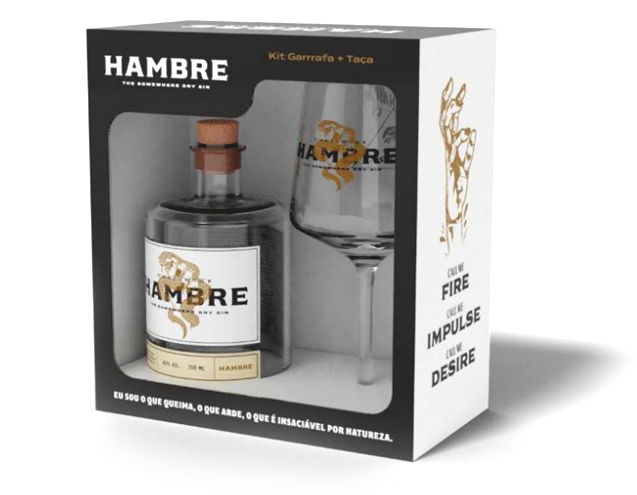 Kit Gin Hambre 750ml e Taça