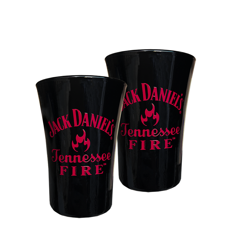Kit Jack Daniel's Fire 1L com 2 Shots Jack Fire Preto