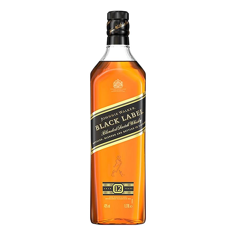 Kit Johnnie Walker - J.W. Red Label 1L, J.W. Black Label 1L com Copo Johnnie Walker Highball Oficial