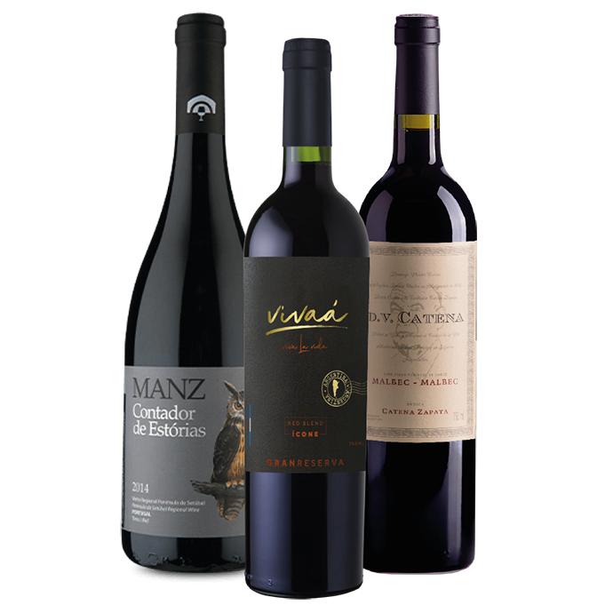 Kit Vinhos Vivaá Gran Reserva, DV Catena e Contador de Estorias Reserva