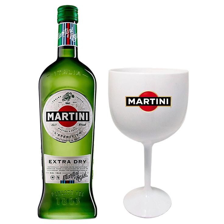 Martini Extra Dry com Taça acrílico personalizada