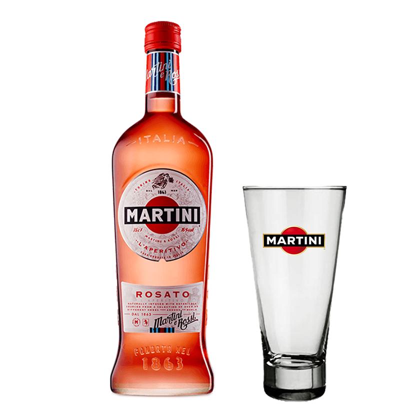 Martini Rosato 750ml com Copo Personalizado