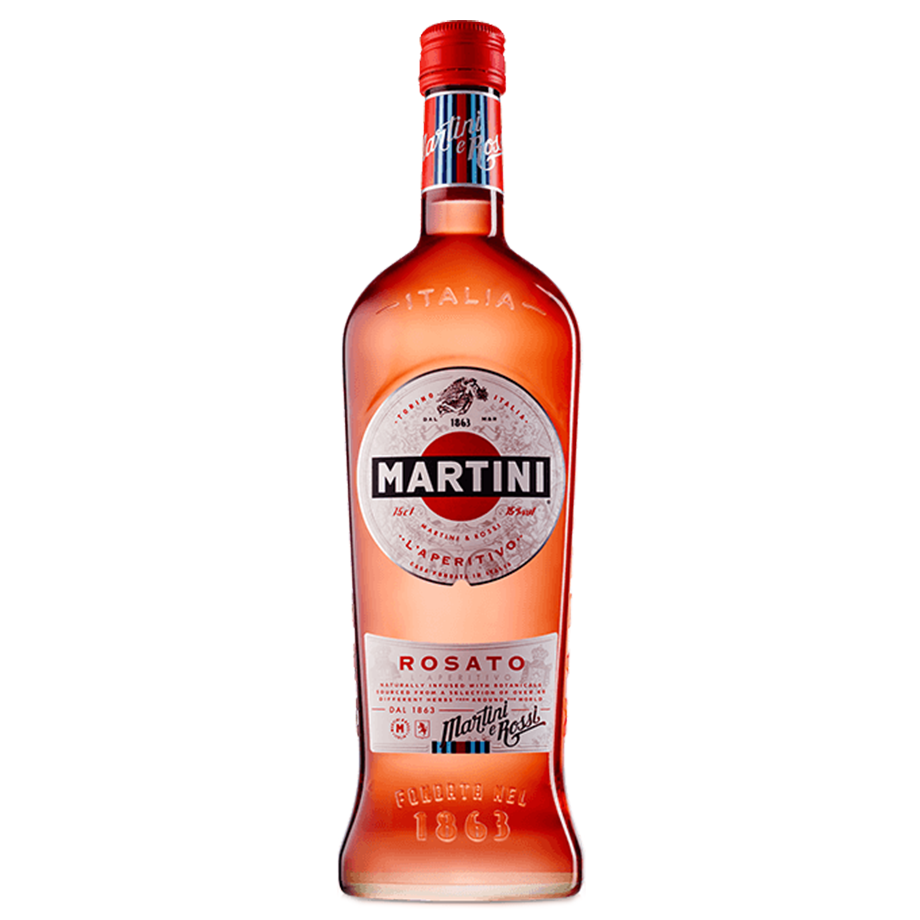 Martini Rosato com Taça acrílico personalizada