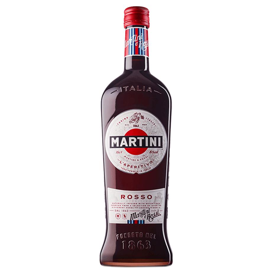 Martini Rosso com Taça acrílico Personalizada