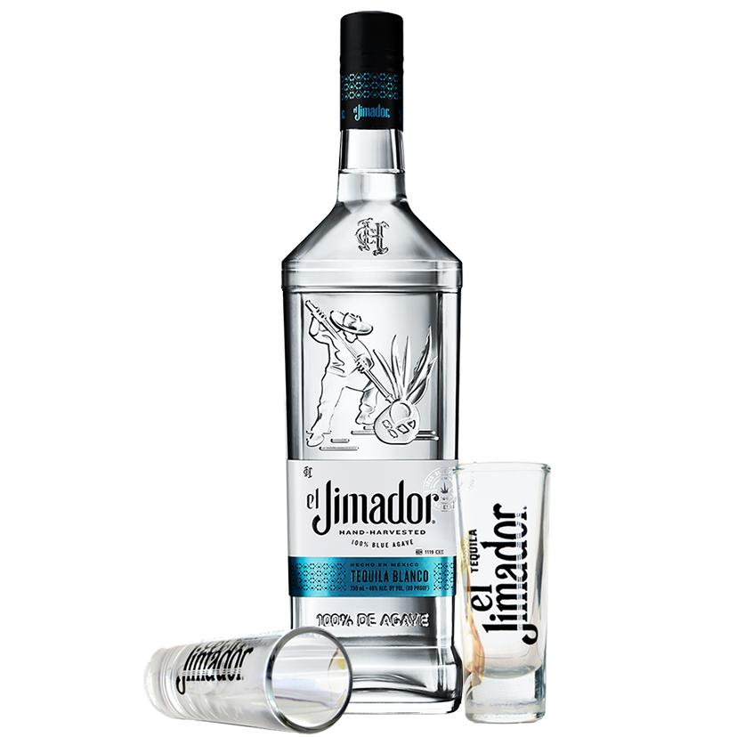 Tequila El Jimador Blanco 750ml com 2 Shots El Jimador